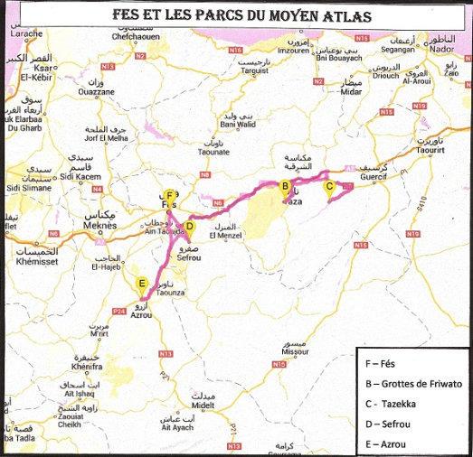 Fès et les parcs du Moyen Atlas