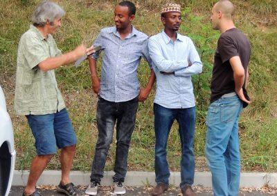Guini (Tchad), Younas (Ethiopie) et Emre (Grèce)